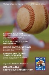 Baseball Road Trips - Sports Travel and Tours