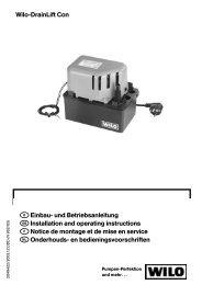 Einbau- und Betriebsanleitung Installation and operating ...