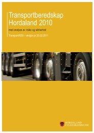 Transportberedskap Hordaland 2010 med analyse av risiko og ...