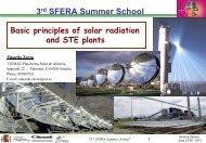Basic principles of solar radiation and STE plants: Eduardo ... - SFERA