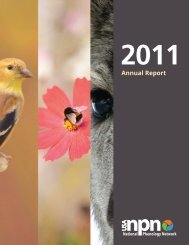 2011 Annual Report - USA National Phenology Network