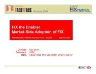 FIX the Enabler Market-Side Adoption of FIX Contact - Plus Concepts