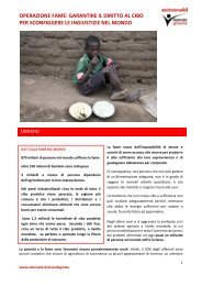 OPERAZIONE FAME: GARANTIRE IL DIRITTO AL CIBO ... - ActionAid