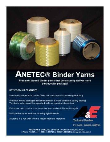 Download Binder Flyer (pdf) - American & Efird, Inc