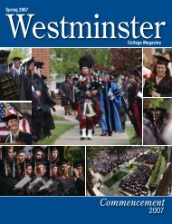 Commencement - Westminster College