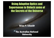 Using Adaptive Optics and Supernovae to Unlock some of the ...