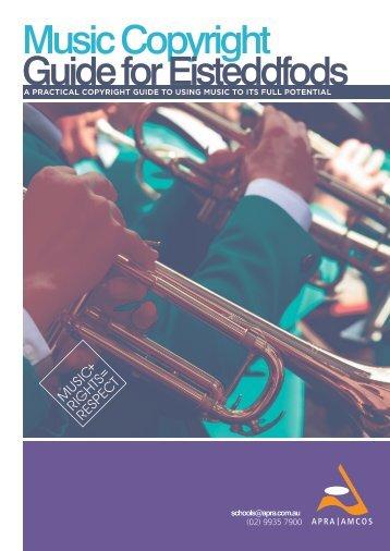 Music Copyright Guide for Eisteddfods - APRA