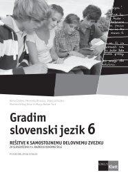 (posodobljena izdaja 2011) - rešitve samostojnega delovnega zvezka