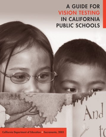 A Guide for Vision Testing in California Public Schools