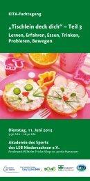 """""""Tischlein deck dich"""" – Teil 3 - DGE-Sektion Niedersachsen"""