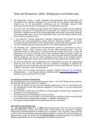 Rote Liste Rhopalocera (2009) : Bedingungen und ... - CSCF