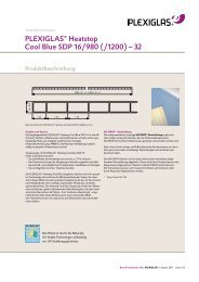 PLEXIGLAS Heatstop Cool Blue SDP - Plexiglas-shop.com