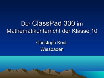 Der ClassPad 330 im Mathematikunterricht der Klasse ... - kou-hessen