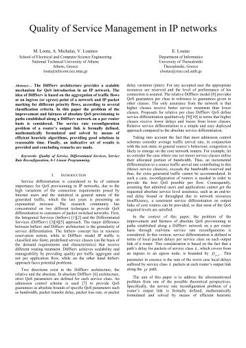 """""""Quality of Service Management in IP networks"""", In - ResearchGate"""