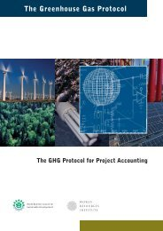 The GHG Protocol for Project Accounting - National Business Initiative