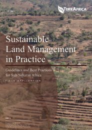 Sustainable Land Management in Practice. Guidelines ... - TerrAfrica