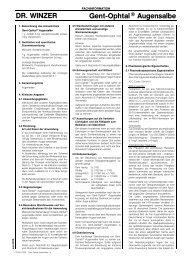 DR. WINZER Gent-Ophtal® Augensalbe - Dr. Winzer Pharma