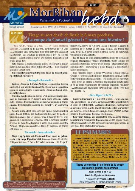 Le paLmarès - Conseil général du Morbihan