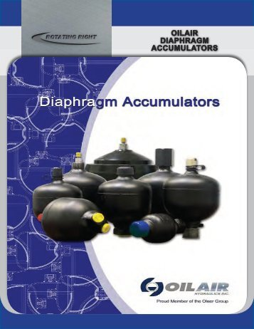OILAIR DIAPHRAGM ACCUMULATORS - Rotating Right