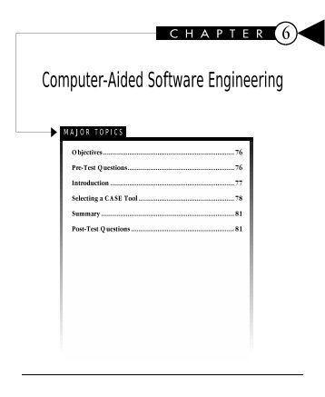 essay on computer aided software engineering For this assignment, you will use visio software application to develop the design employing the following computer-aided software engineering (case) modeling tools: use case functional decomposition diagram.