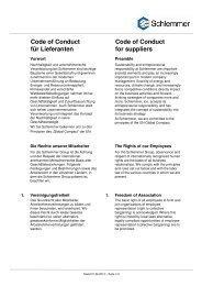 Code of Conduct Stand 04.07.2013 - Schlemmer