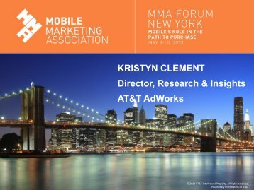 KRISTYN CLEMENT Director, Research & Insights AT&T AdWorks