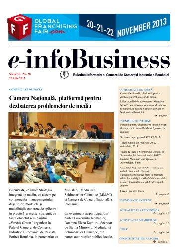 e-infoBusiness nr. 28/26.07.2013 - Camera de Comert si Industrie a ...