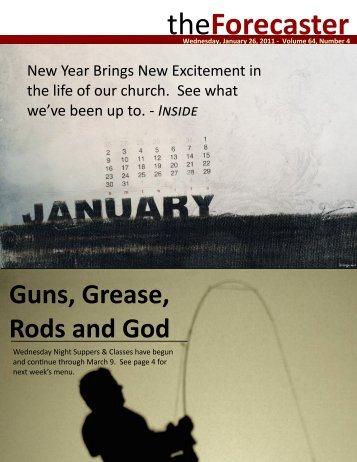 Jan 26: Cover Story - Full Speed Ahead - Fairmount Christian Church