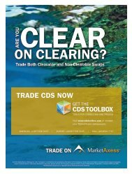 CDS Clearing on MarketAxess