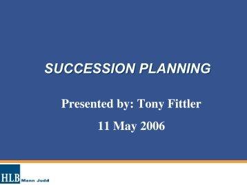 SUCCESSION PLANNING - Family Business Australia