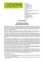 Gleichstellung Beruf deutsch - Gender Studies