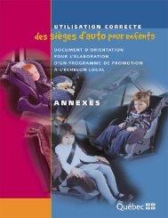 Utilisation correcte des sièges d'auto pour enfants - Société de l ...