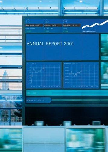 Deutsche Börse AG Annual Report 2001
