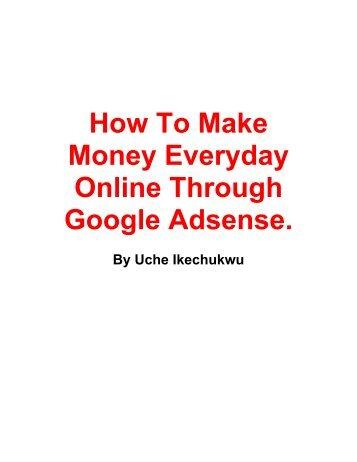 How To Make Money Everyday Online Through ... - Resourcedat