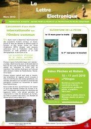 Newsletter Mars 2010 - Fédération de pêche de la Haute-Savoie