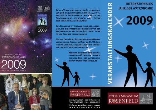 Jahr der Astronomie - Progymnasium Rosenfeld