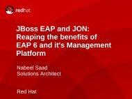 JBoss EAP and JON: Reaping the benefits of EAP 6 and ... - Servodata
