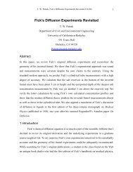 Fick's Experiments Revisited - Tadeusz (Tad) Patzek