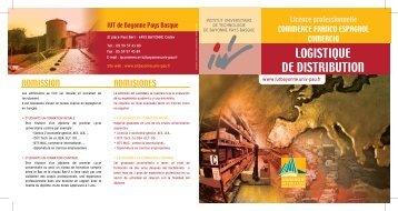 Plaquette LP COM - IUT Bayonne