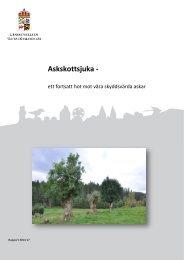 2014-17_Askskottsjuka - ett fortsatt hot mot våra skyddsvärda askar
