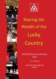 Complete Program - Australian Council of Social Service
