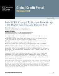 Irish BICRA Changed To Group 4 From Group 3 On Higher ... - IBRC