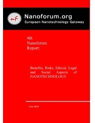 Benefits, Risks, Ethical, Legal and Social Aspects of Nanotechnology
