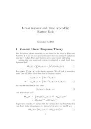 Linear response and Time dependent Hartree-Fock
