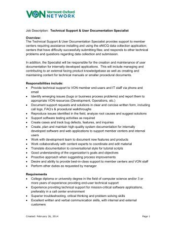 Network Engineer Job Description Job Description Job Title Sales