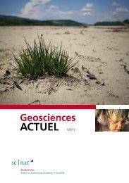 Geoscience ACTUEL 1/2012 - Platform Geosciences - SCNAT