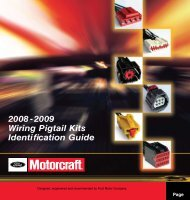 2008-2009 Wiring Pigtail Kits Identification Guide Page