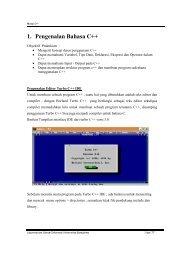 1. Pengenalan Bahasa C++ - iLab - Universitas Gunadarma