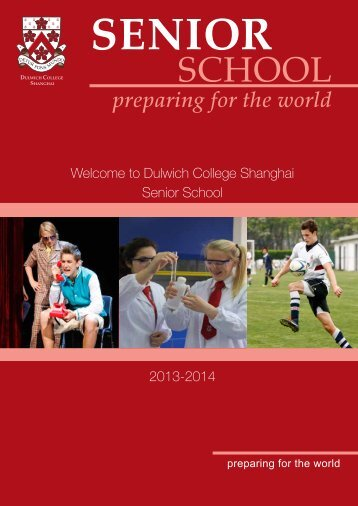 Download the Senior School Welcome Booklet here - Dulwich ...
