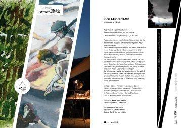 Einladung IsoCamp - Kunst Palais Liechtenstein